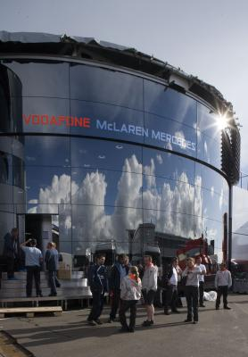 The all new McLaren Brand Centre at it's first race the Brisih Grand Prix July 2007
