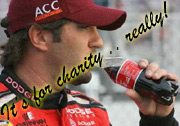 Elliot Sadler Drinks a Coke for Charity
