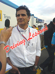 Nelson Piquet Goes to Driving School
