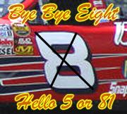 Earnhardt Jr to lose number 8
