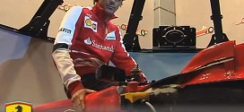 Pedro de la Rosa and the Ferrari F1 Simulator