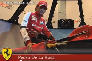 Pedro de la Rosa in the Ferrari F1 Simulator