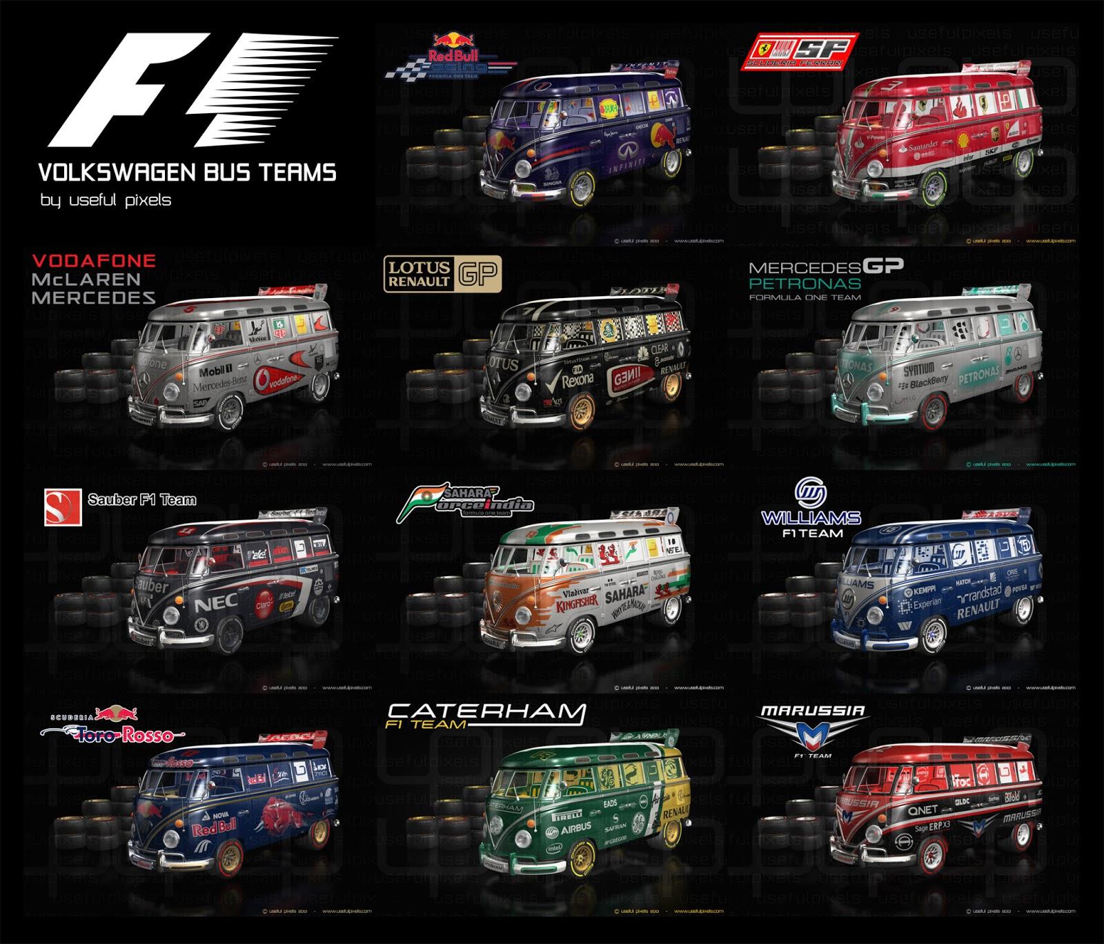 Formula One Team Vw Buses Racing Views